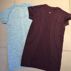 (2) Lululemon Swiftly Tech Athletic Tees, size 4